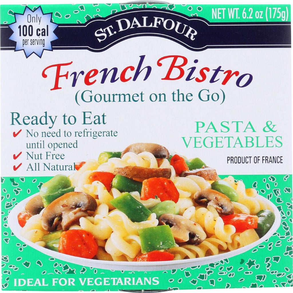 St Dalfour Gourmet On The Go - Ready To Eat - Pasta And Vegetables - 6.2 Oz - Case Of 6