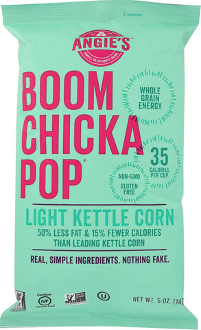 Angie's Kettle Corn Boom Chicka Pop Lightly Sweet Popcorn - Case Of 12 - 5 Oz.