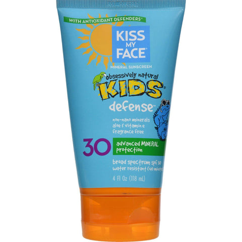 Kiss My Face Kids Sunblock Natural Mineral Lotion Spf 30 - 4 Fl Oz