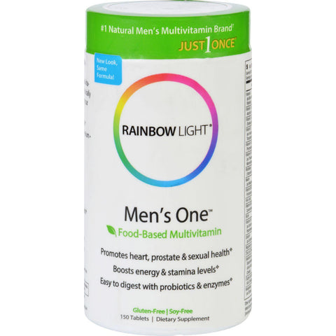Rainbow Light Men's One Energy Multivitamin - 150 Tablets