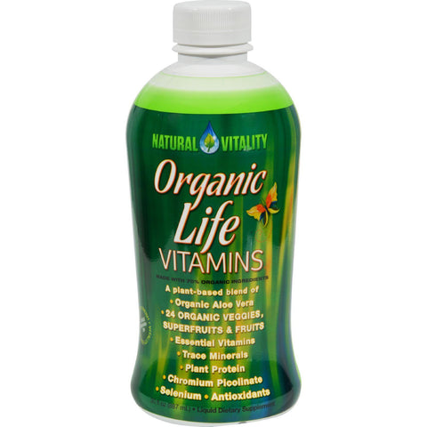 Natural Vitality Liquid Organic Life Vitamins - 30 Fl Oz