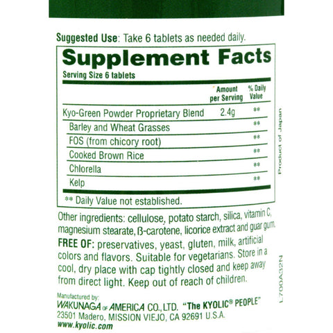 Kyolic Kyo-green Energy - 180 Tablets