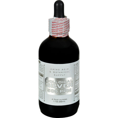 Amino Acid And Botanical Supply Colloidal Silver - 500 Ppm - 4 Fl Oz