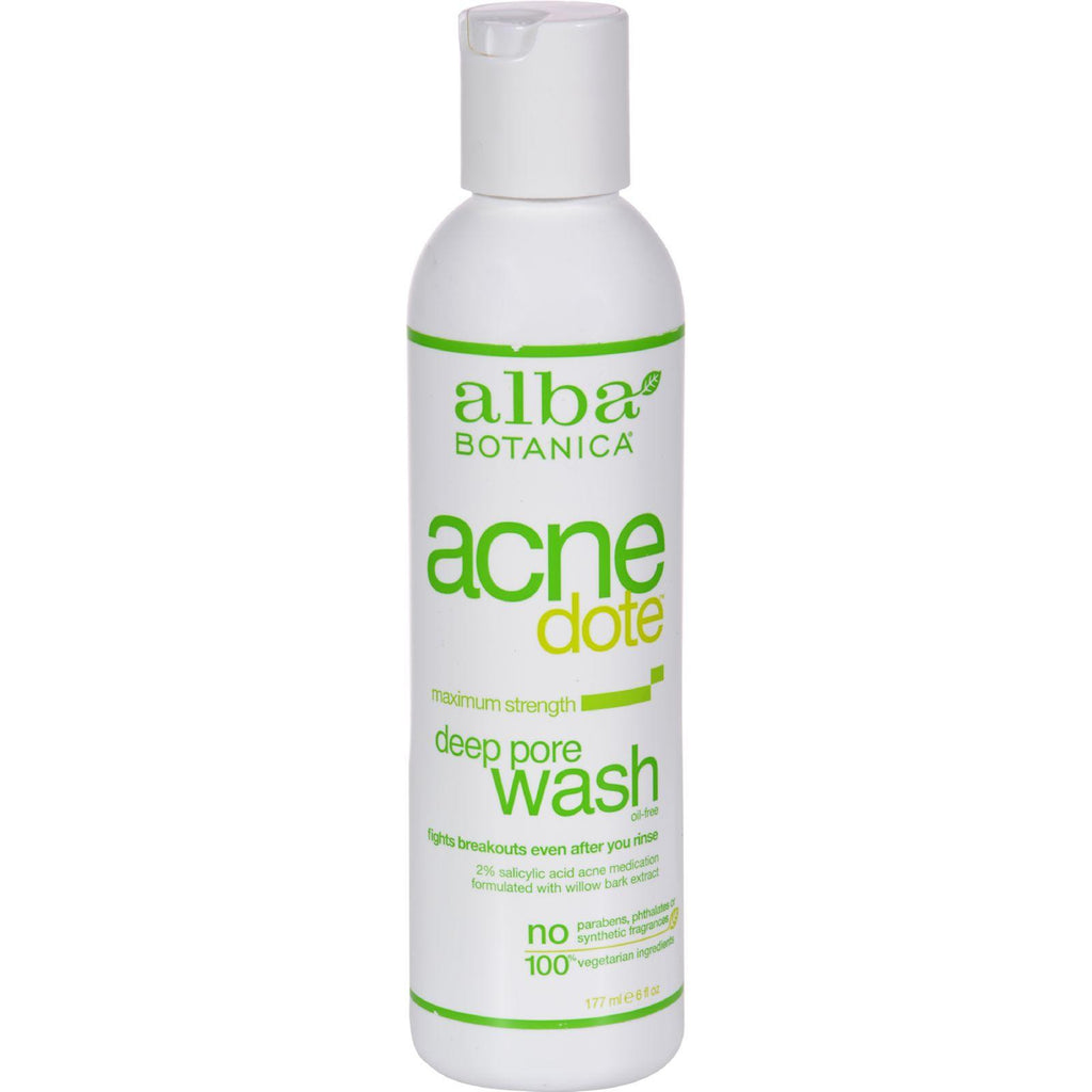 Alba Botanica Natural Acnedote Deep Pore Wash - 6 Fl Oz