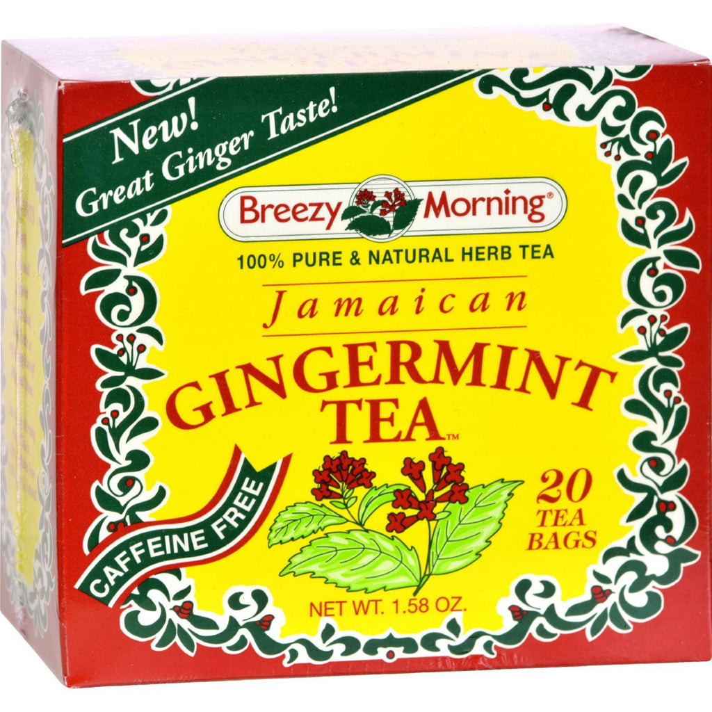 Breezy Morning Teas Jamaican Gingermint - 20 Tea Bags