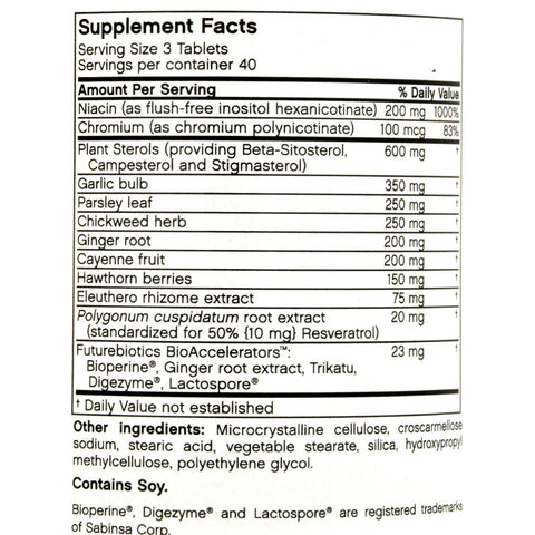 Futurebiotics Cholesta-lo - 120 Vegetarian Tablets