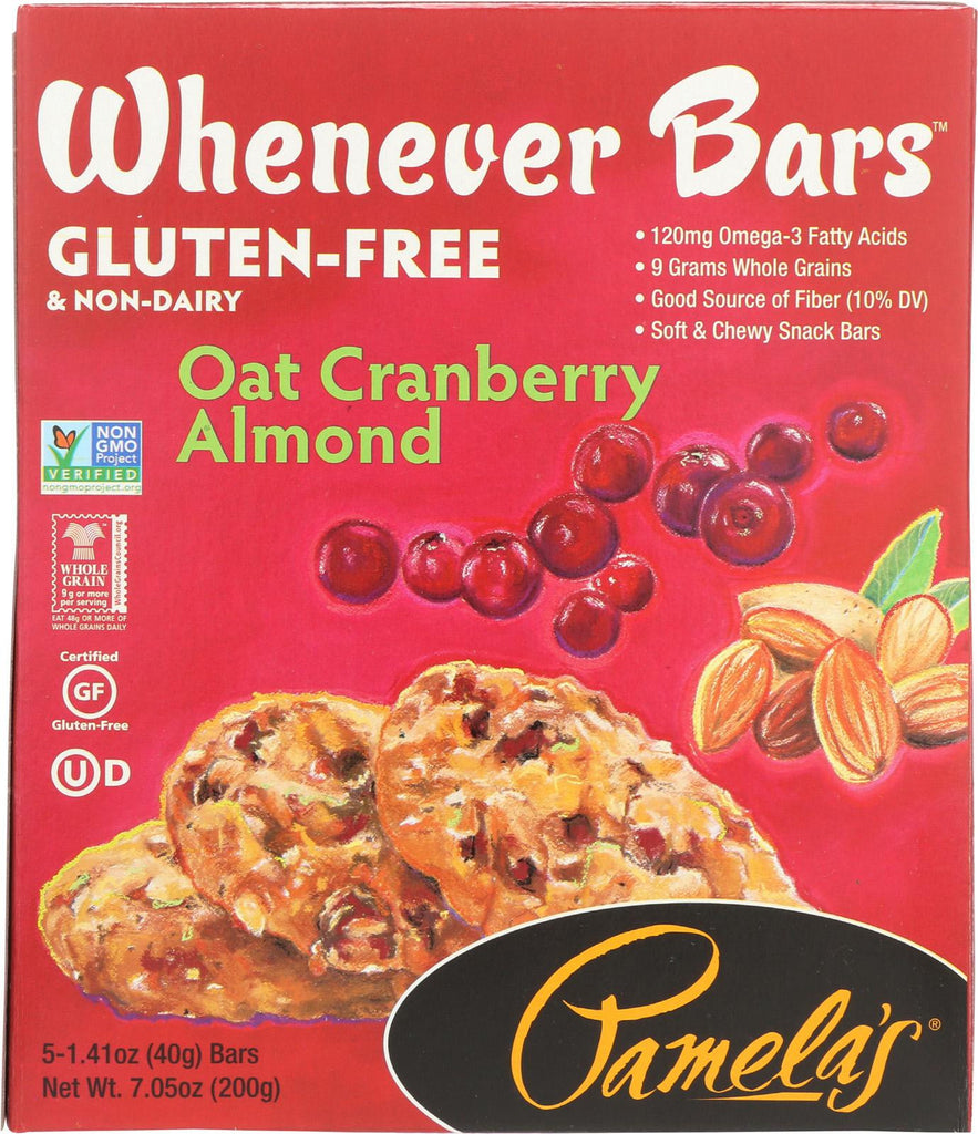 Pamela's Products Oat Chocolate Chip Whenever Bars - Peanut Butter - Case Of 6 - 1.41 Oz.