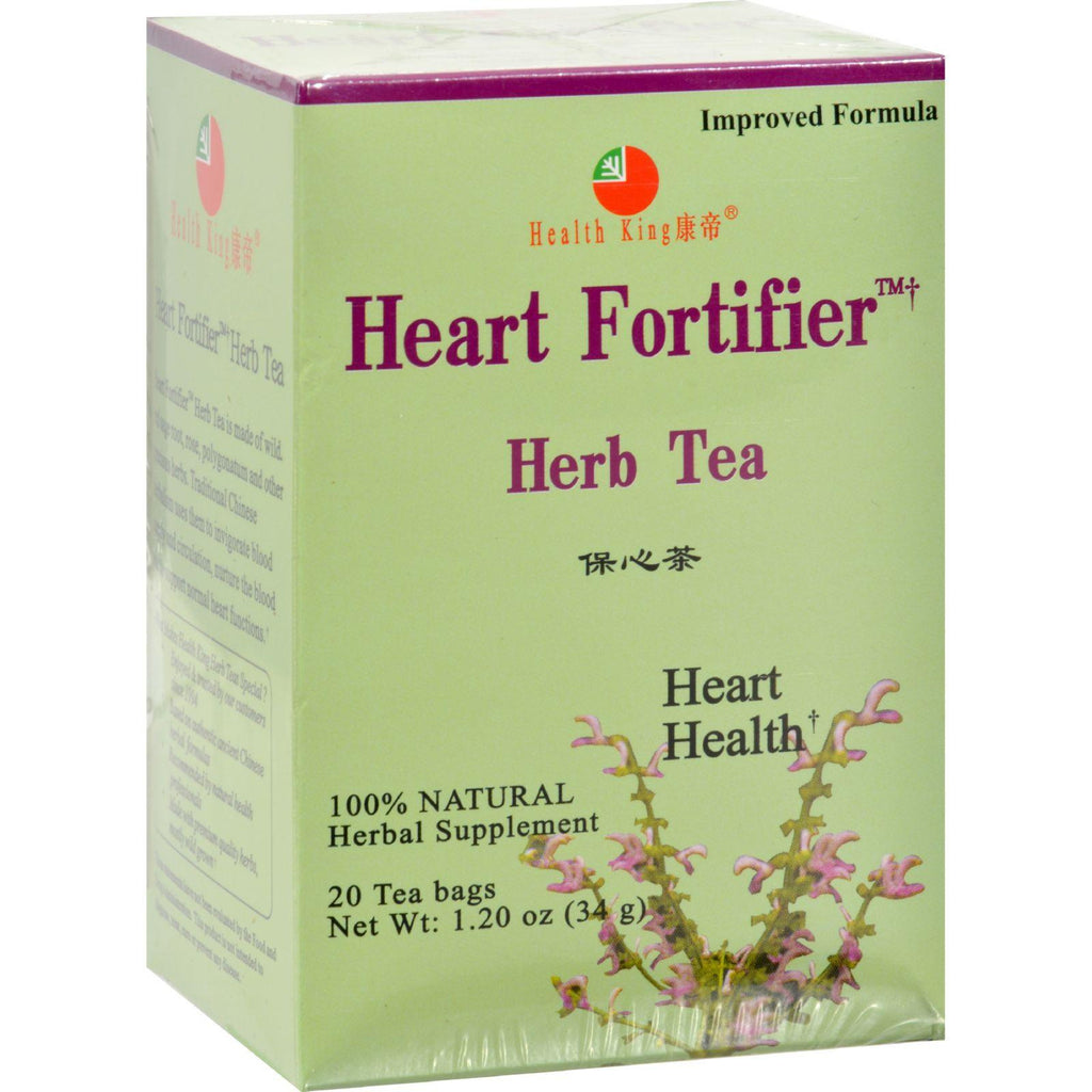 Health King Medicinal Teas Heart Fortifier Herb Tea - 20 Tea Bags