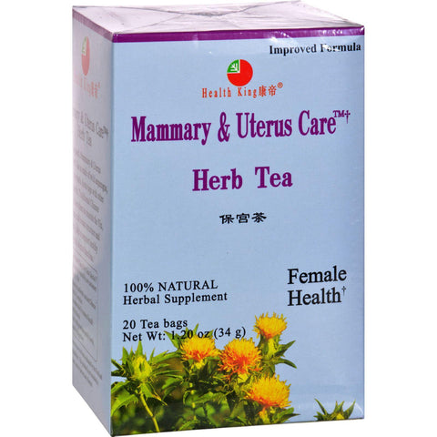 Health King Mammary And Uterus Care Herb Tea - 20 Tea Bags