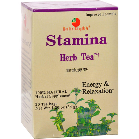 Health King Stamina Herb Tea - 20 Tea Bags