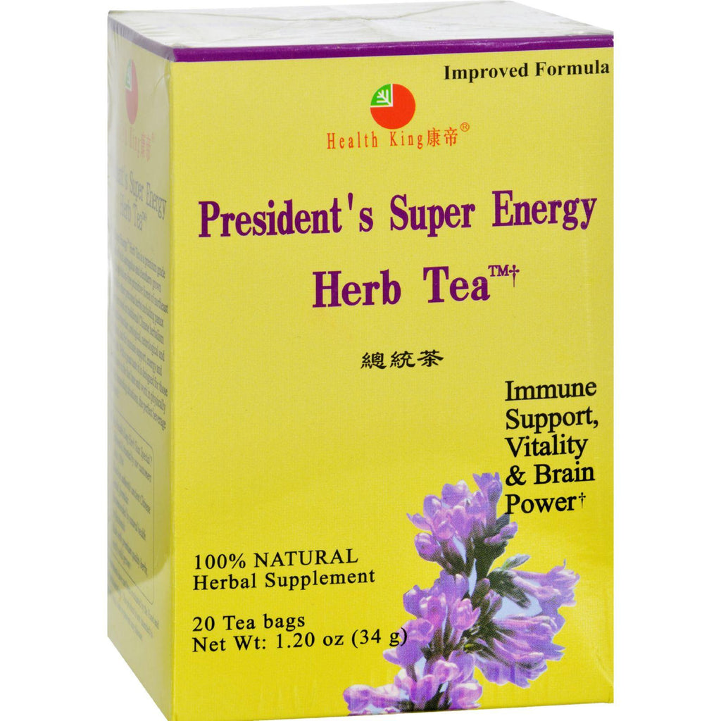 Health King President's Super Energy Herb Tea - 20 Tea Bags