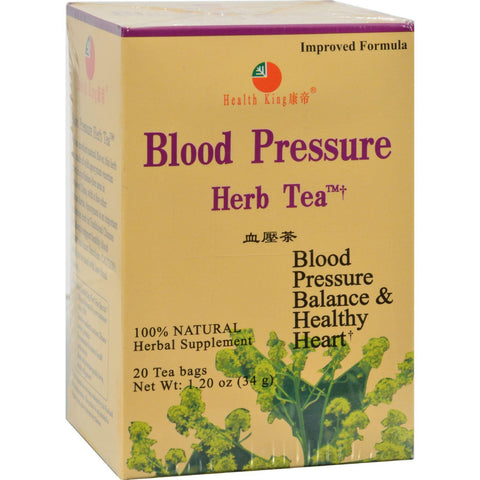Health King Blood Pressure Herb Tea - 20 Tea Bags