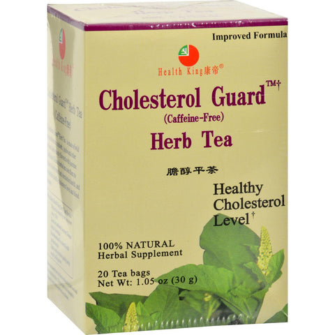 Health King Cholesterol Guard Herb Tea - 20 Tea Bags
