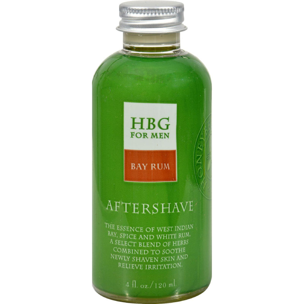 Honeybee Gardens Herbal Aftershave Bay Rum - 4 Oz
