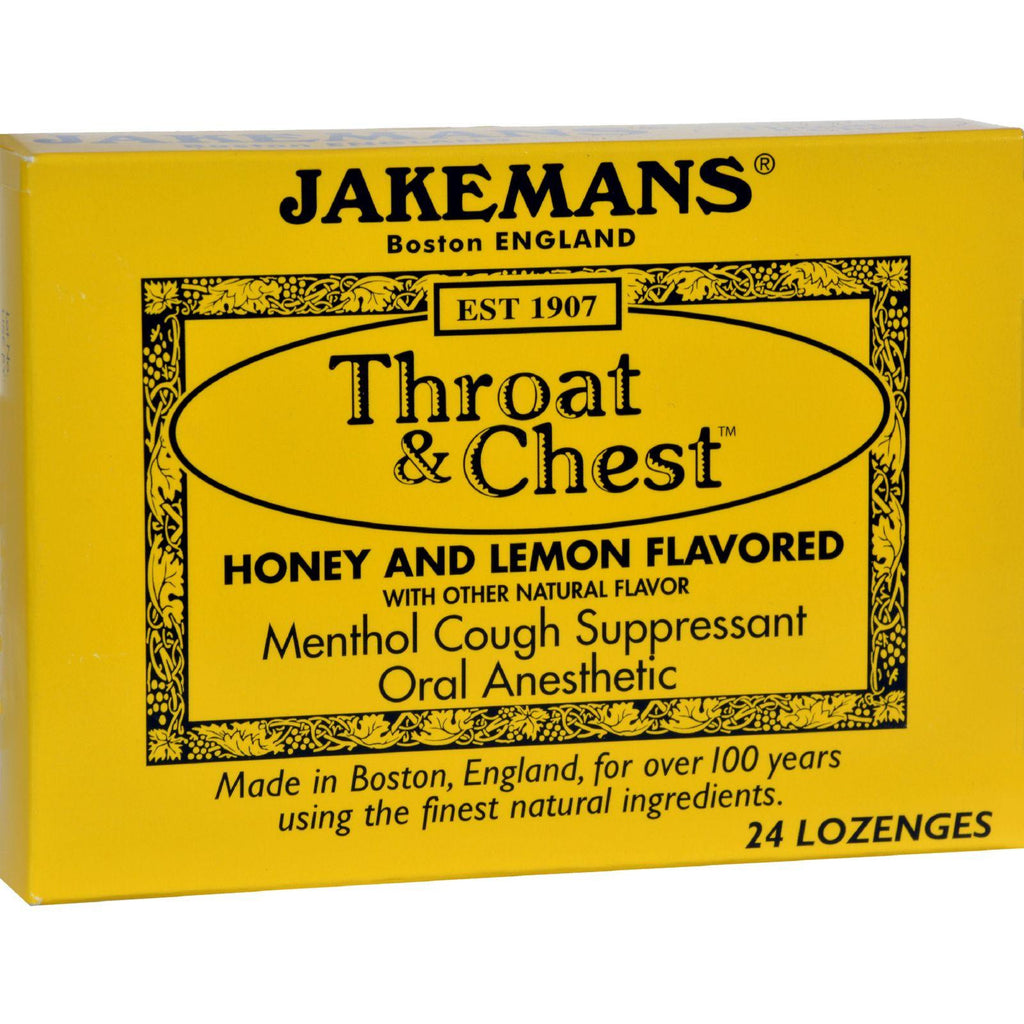 Jakemans Throat And Chest Lozenges - Honey And Lemon - Case Of 24 - 24 Pack