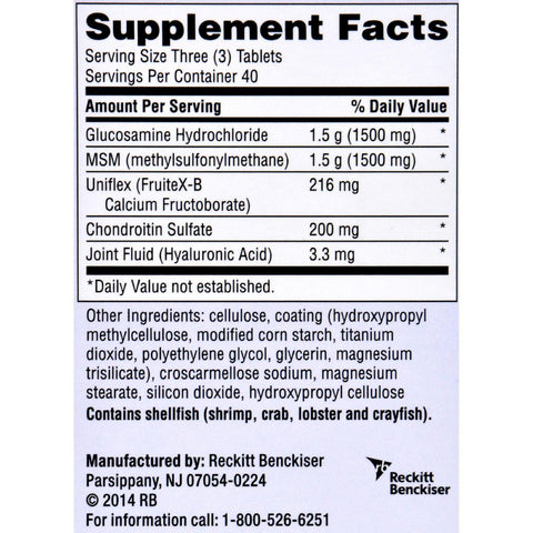Schiff Move Free Total Joint Health - 1500 Mg - 120 Coated Tablets