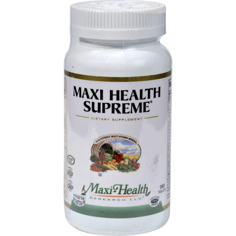 Maxi Health Supreme Vit And Min - 180 Tablets