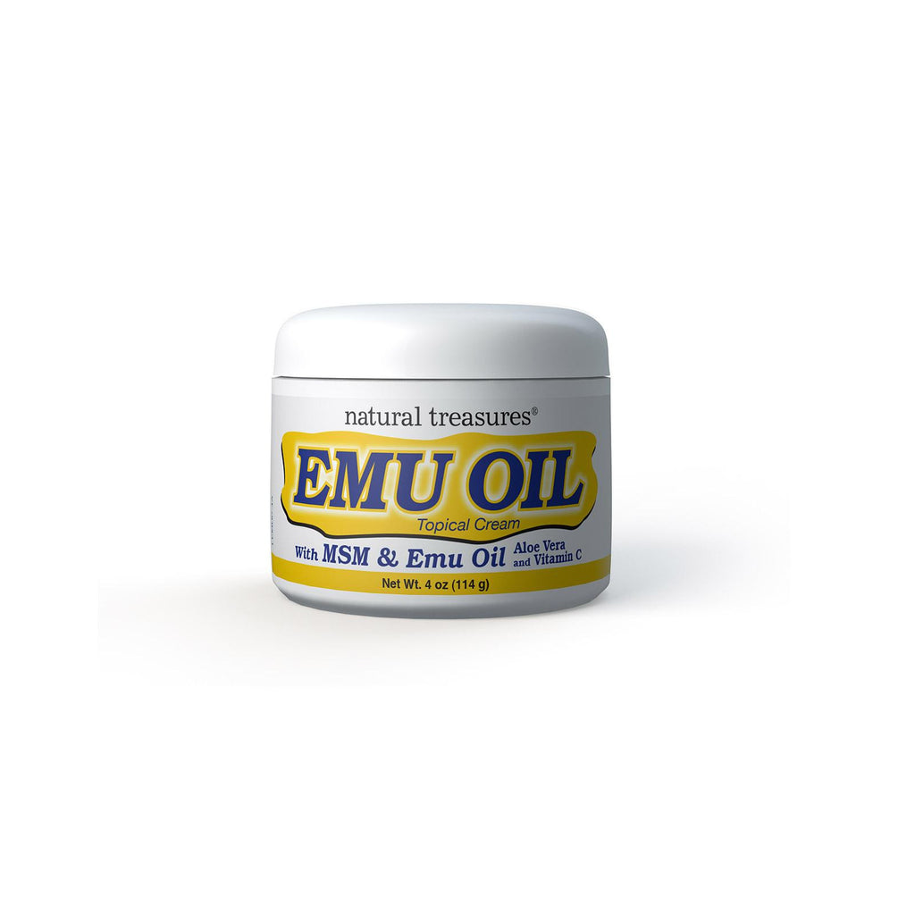 Natural Treasures Emu Oil Topical Cream - 4 Oz