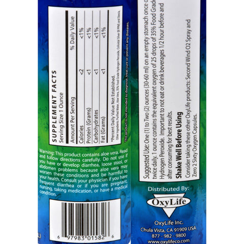 Oxylife Oxygen With Colloidal Silver Plain - 16 Fl Oz