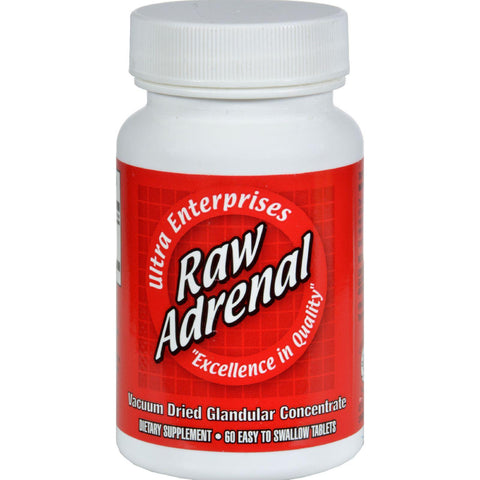 Ultra Glandulars Raw Adrenal - 200 Mg - 60 Tablets
