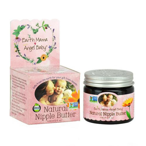 Earth Mama Angel Baby Natural Nipple Butter - 2 Oz