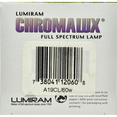 Chromalux Standard Clear Light Bulb - 60 Watt - 1 Bulb