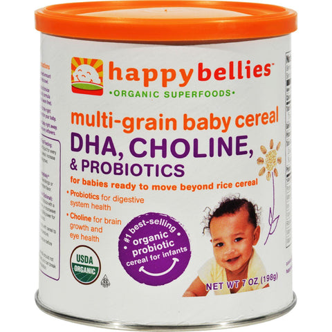 Happy Baby Happy Bellies Dha Pre And Probiotics Plus Choline Organic Multigrain Cereal - Case Of 6 - 7 Oz