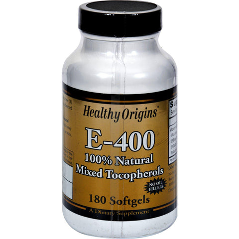 Healthy Origins E-400 - 400 Iu - 180 Softgels