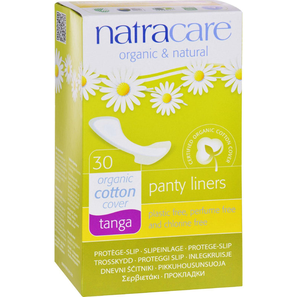 Natracare Natural Tanga Style Panty Liners - 30 Pack