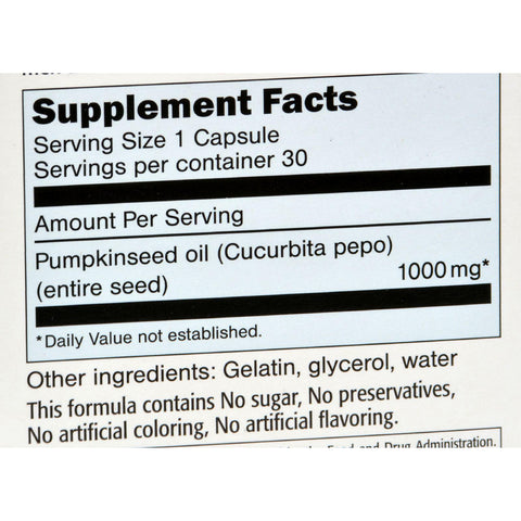 Sanhelios Curbita Bladder Caps European Pumpkinseed Oil - 1000 Mg - 30 Softgels
