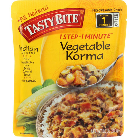 Tasty Bite Entree - Indian Cuisine - Vegetable Korma - 10 Oz - Case Of 6