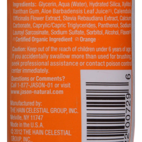 Jason Kids Only Toothpaste Orange - 4.2 Oz