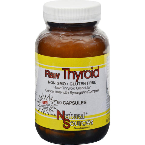 Natural Sources Raw Thyroid - 60 Tablets