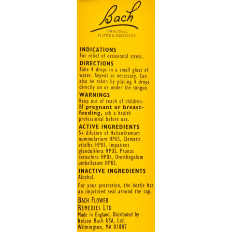 Bach Flower Remedies Rescue Remedy Stress Relief Tincure - 0.35 Fl Oz