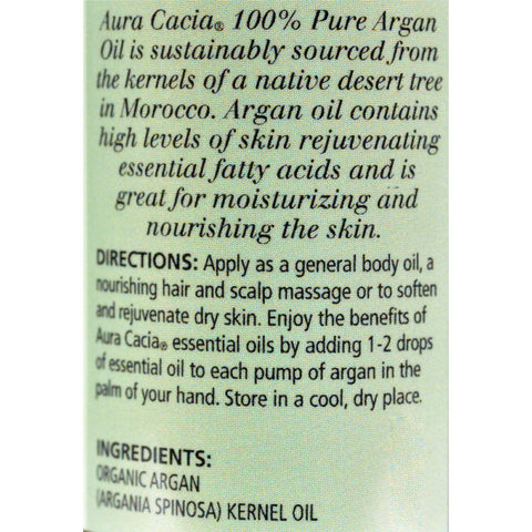 Aura Cacia Argan Skin Care Oil Certified Organic - 1 Fl Oz