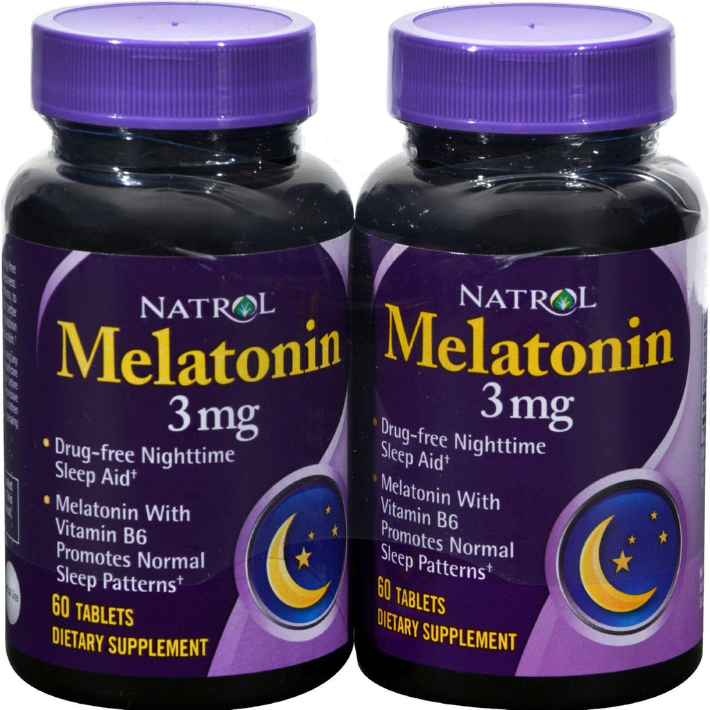 Natrol Melatonin Twin Pack - 3 Mg - 60 Tablets Each