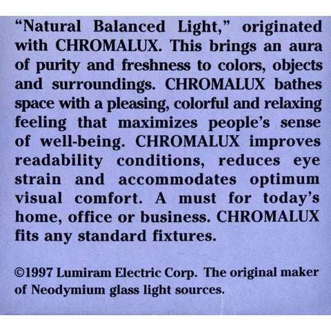 Chromalux Lumiram Full Spectrum 3 Way 50-100-150 Watts - Frosted - 1 Light Bulb