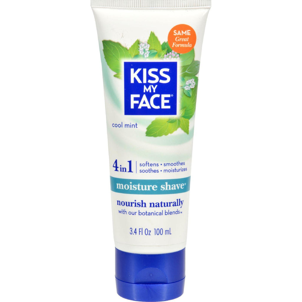 Kiss My Face Moisture Shave Cool Mint - 3.4 Fl Oz