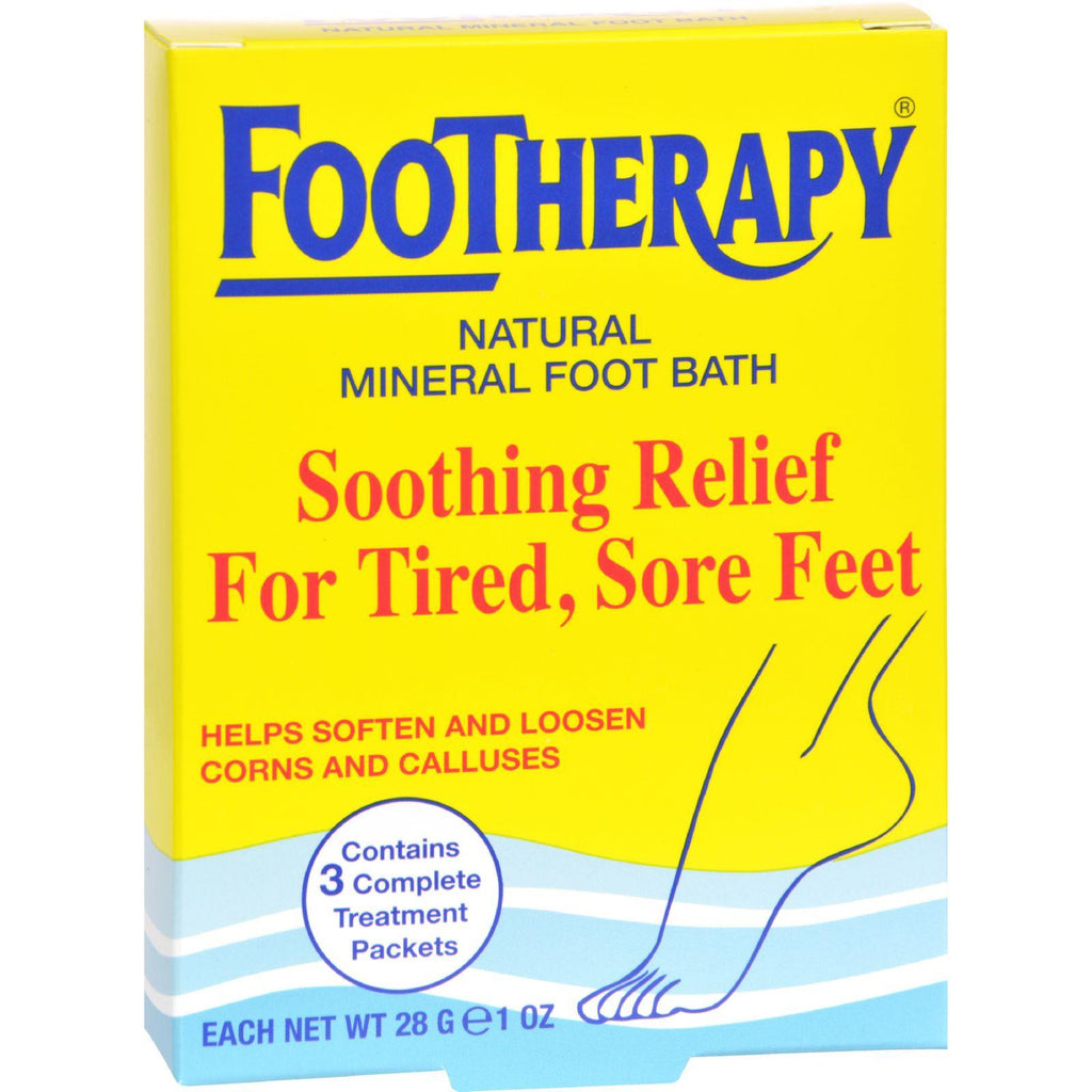 Queen Helene Footherapy Mineral Salt - Trial Size - Case Of 6 - 3 Oz