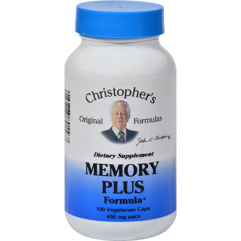 Dr. Christopher's Original Formulas Memory Plus Formula - 450 Mg -100 Caps