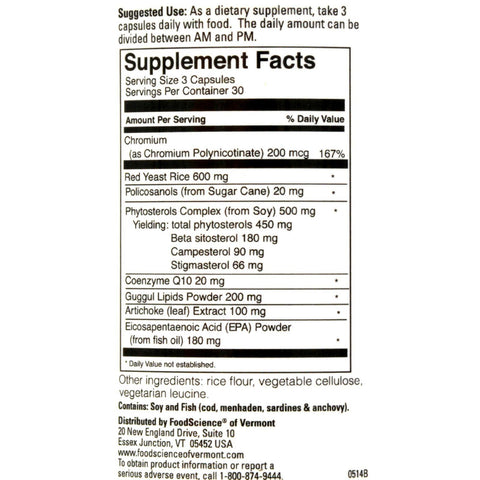 Foodscience Of Vermont Cholestsafe - 90 Capsules