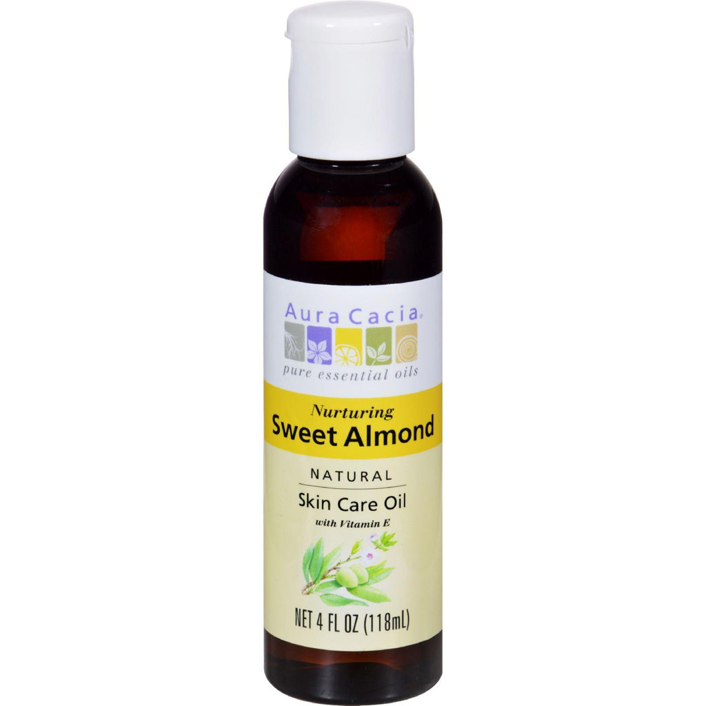 Aura Cacia Sweet Almond Natural Skin Care Oil - 4 Fl Oz