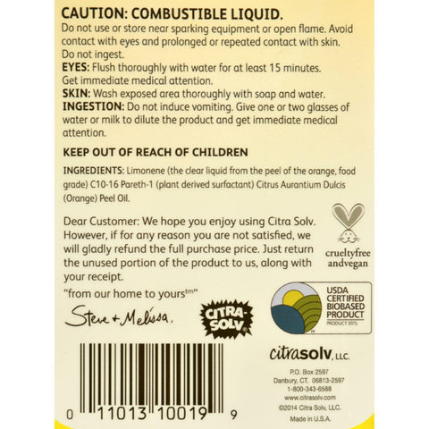 Citrasolv Natural Solvent - 32 Oz