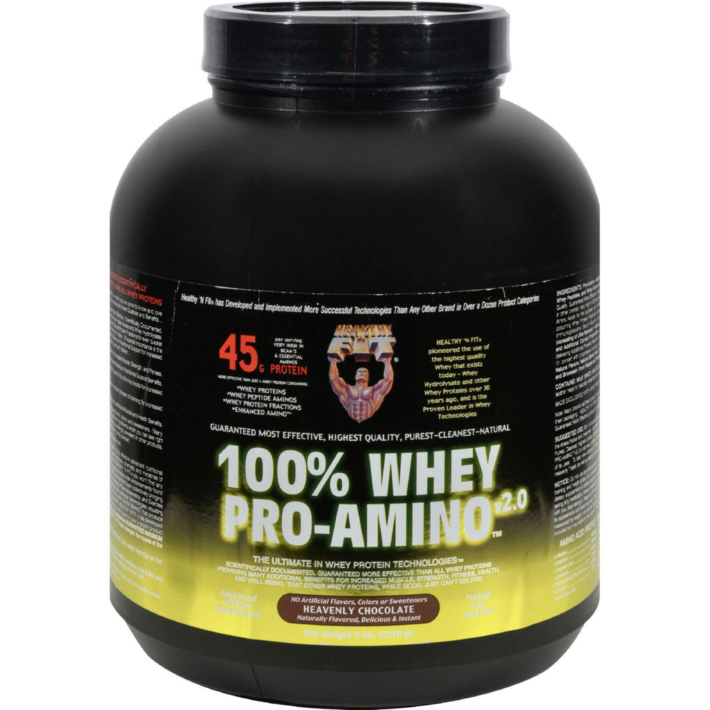 Healthy 'n Fit Nutritionals Whey Pro-amino Heavenly Chocolate - 5 Lbs