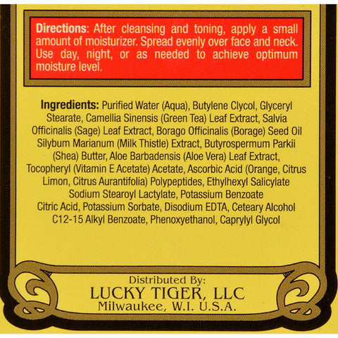 Lucky Tiger Face Moisturizer - 3.5 Fl Oz