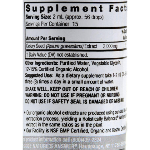 Nature's Answer Celery Seed - 1 Fl Oz