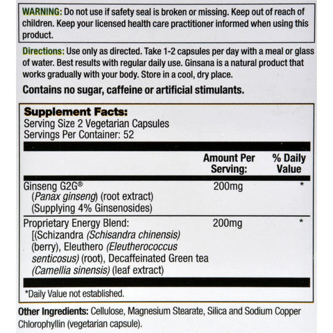Pharmatron Alan James Ginsana Energy - 105 Softgels