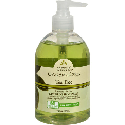 Clearly Natural Pure And Natural Glycerine Hand Soap Tea Tree - 12 Fl Oz