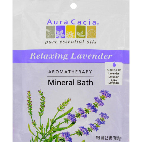 Aura Cacia Aromatherapy Mineral Bath Lavender Harvest - 2.5 Oz - Case Of 6