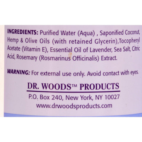 Dr. Woods Castile Soap Soothing Lavender - 16 Fl Oz